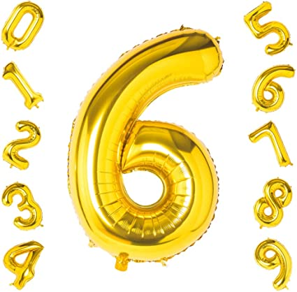 Amazon.com: Globos de oro de 0 – 9 números, decoraciones de ...
