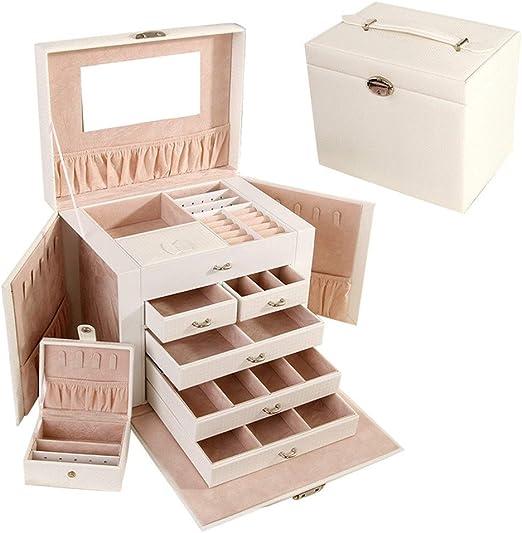 Caja de joyería rectangular para mujeres con estuche de tamaño de ...