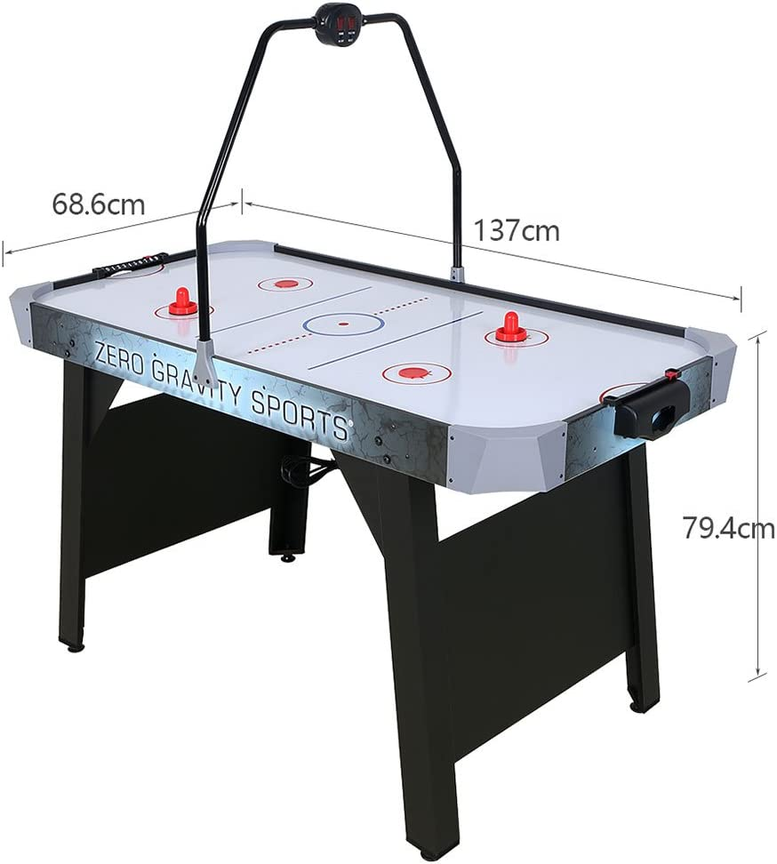 Indoor Sports Game Table with LED Electric Scorer HLC 54 Inches Air Hockey Game Table for Adult and Kids