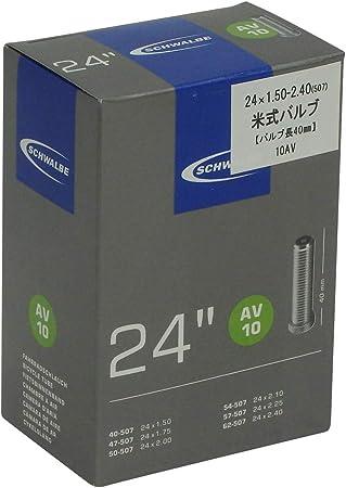 24 x 2.10//3.00-40 mm Schrader Valve Schwalbe AV10D tube intérieur