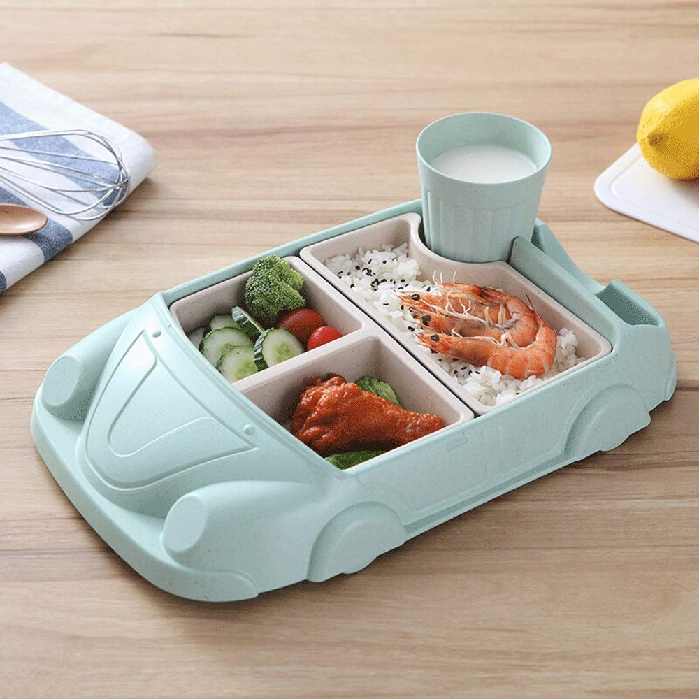 Bento Boxes Leakproof Dishwasher Safe Kids Lunch Box BPA Free Non Toxic Tasteless Bento Boxes Airtight Lid Stress Free Slim Design Lunch Boxes Suitable for Indoor And Outdoor (Color : Beige)