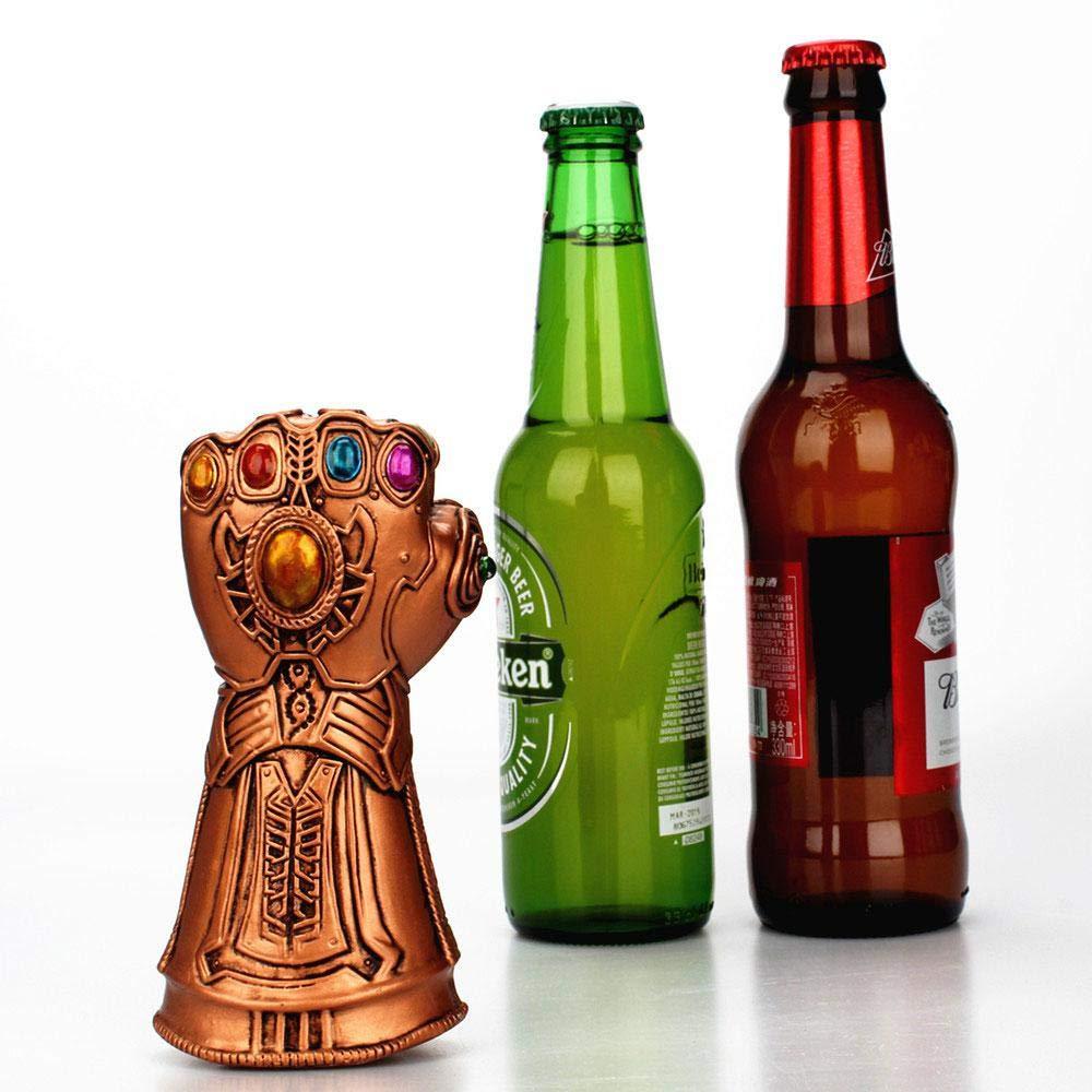 Compra AOLVO Abridor de botellas de cerveza, Marvel Studios Infinity War Infinity Gauntlet Thanos Guante de cerveza botella de vino abridor, ideal para bar, ...
