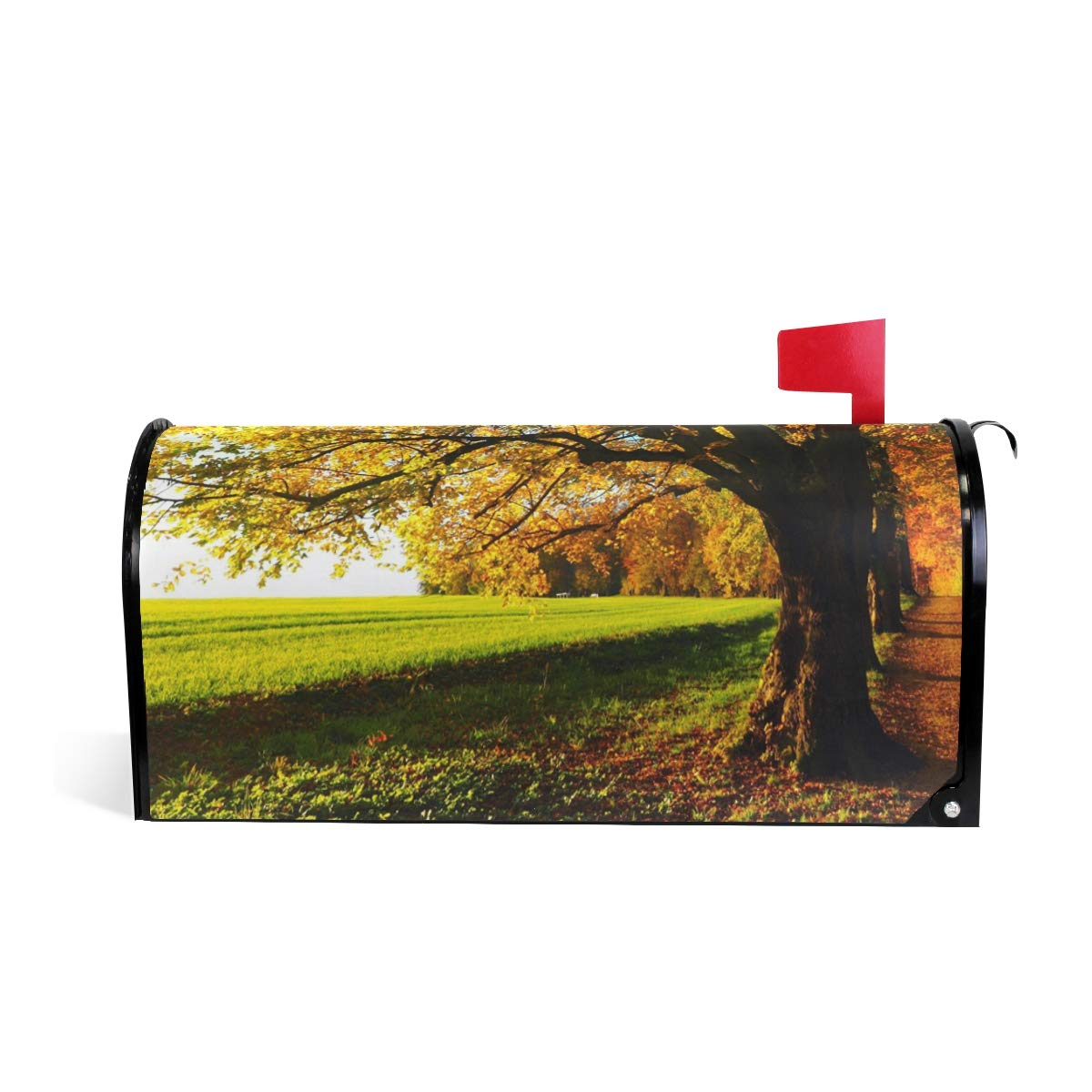 HEOEH Tree Sun Light Forest Magnetic Mailbox Cover Home Garden Decorations Oversized 25.5 x 20.8 inches
