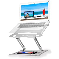 Urmust Ergonomic Adjustable Portable Laptop Notebook Stand Holder Riser with Mouse Pad