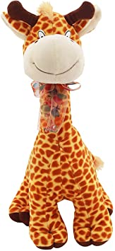 Pearl World Cute Stuffed Brown Spots Giraffe Animal Soft Toy for Kids -(40 cm)