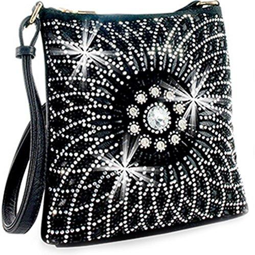 Bright All Cross Body Zzfab Bag Black Sparkle Starburst gRwwqA
