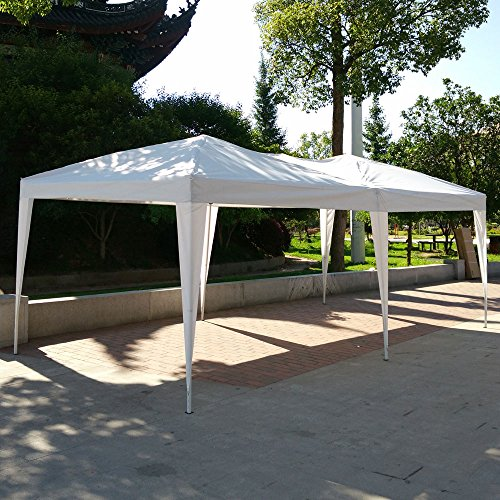 10 X 20 Pop ({Us Stock}Easy POP Folding Tent with Carrying Bag for Wedding Event Party (10'x 20') White)