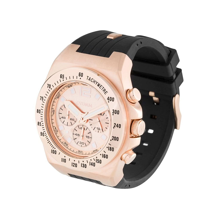 OTUMM Herren-Armbanduhr Marina Chrono Analog Quarz Silikon 01832