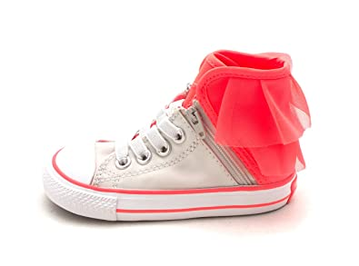 3f194eb59699 Converse Girls CTAS Block Party High Top Lace up Shoes (1 M US Little Kid