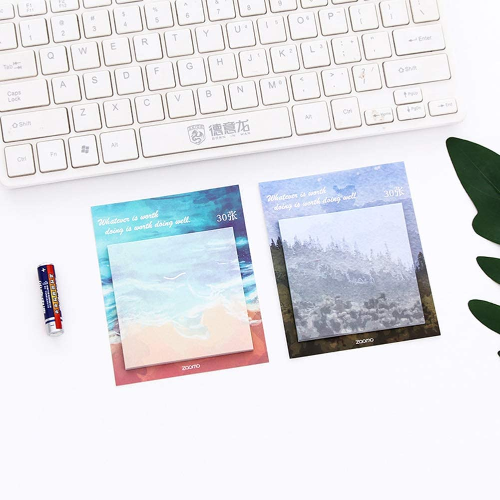 Redcolourful Natural Pattern Series Sticky Note Paper Decorative DIY Craft Forest Kids Office