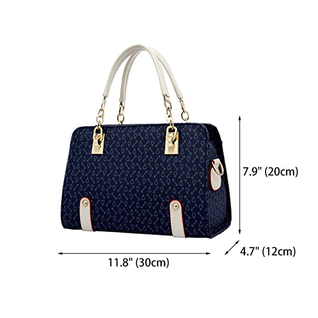 Amazon.com: Women Satchel Handbags Shoulder Bags Crossbody Bags Purses Totes Hobo Blue: Shoes
