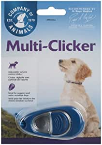 The Company Of Animals 25760A Clix Multi-Clicker Training Tool for Dogs, Blue, Small