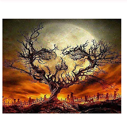 (Classic Jigsaw Puzzle 1000 Pieces Adult Puzzles Wooden Puzzles Halloween Night Landscape DIY Modern Wall Art Home Decor)