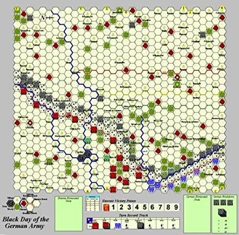 Amazon com: PRP:Black Day of the German Army 1918 Board Game