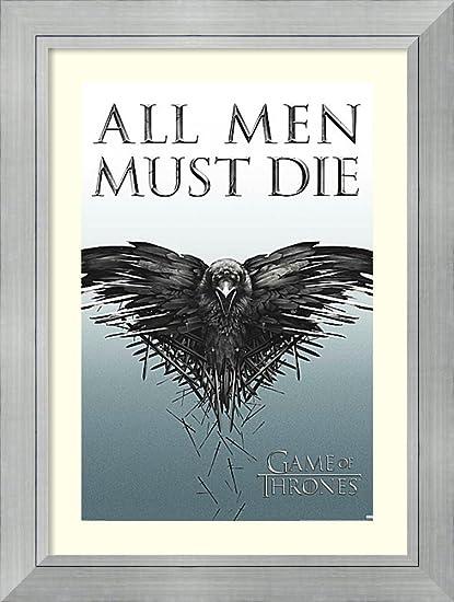 Amazon.com: Framed Art Print \'All Men Must Die (Game of Thrones ...