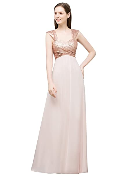 Amazon.com: Favebridal de mujer brillante Maxi Empire ...