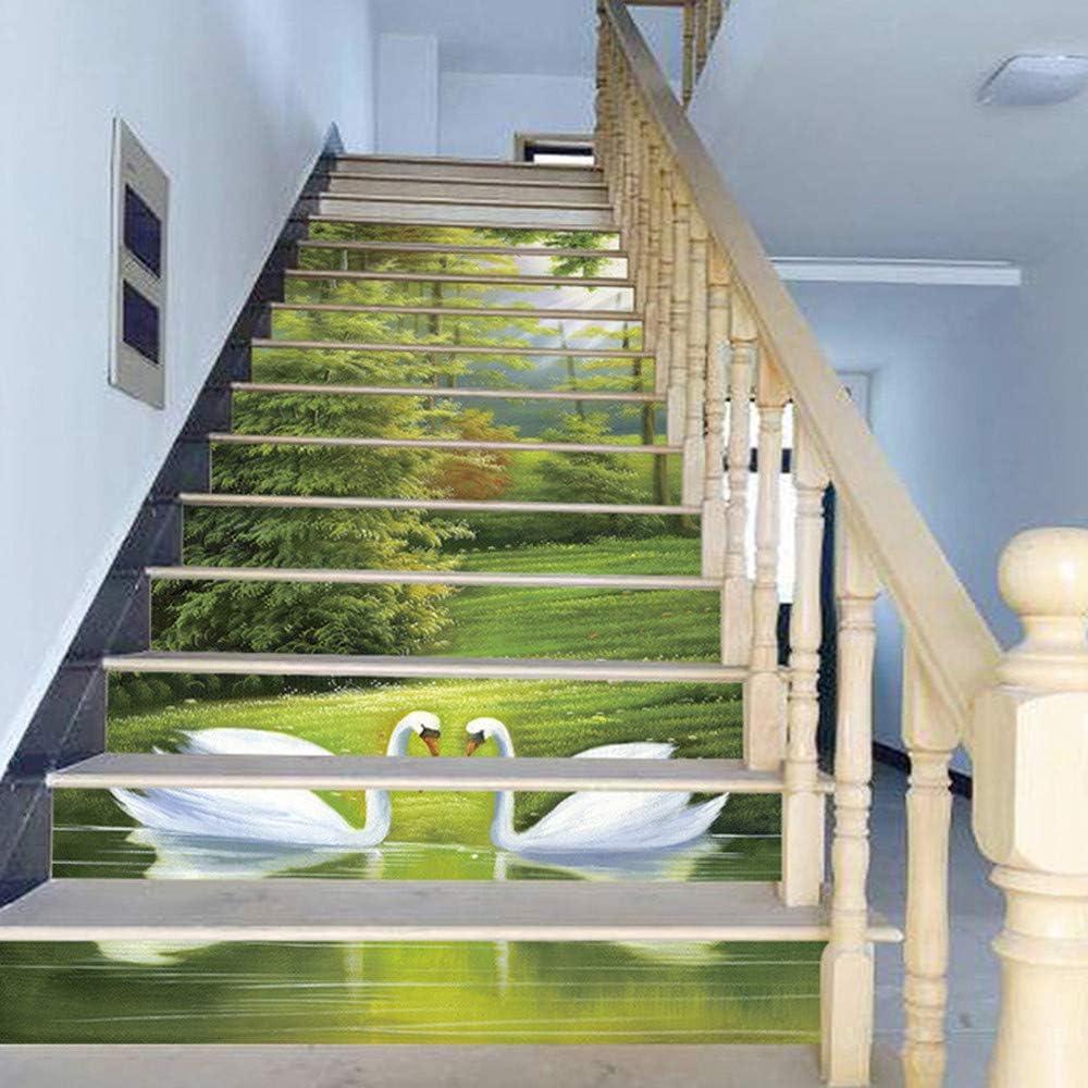 Moent Decoración para el hogar DIY Pasos Pegatina Escalera extraíble Decoración para el hogar Escaleras Pegatinas Decoración de la habitación: Amazon.es: Hogar