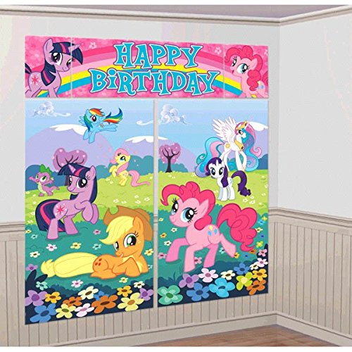 American Greetings My Little Pony Scene Setter Room Decorati