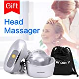 LANDWIND Head Massager, Rechargeable Electric Scalp Body Massager, Silicone Waterproof with 3 Modes Hand-Simulation Kneading, Relief Headache Pain, Tiredness Eliminator for Adults