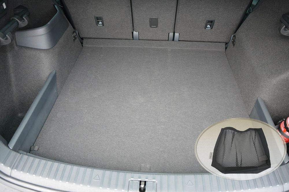 ZentimeX Z3264966 Antirutsch Kofferraumwanne fahrzeugspezifisch Laderaumwanne, Kofferraummatte Klett-Organizer