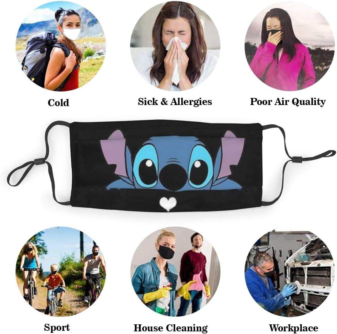 Alice im Wunderland Gesichtsschutz mit Filter Unisex Anti-Staub waschbar Wiederverwendbarer Gesichtsschutz f/ür Kinder Jugendliche Erwachsene 6.9 x 5.1 Zoll