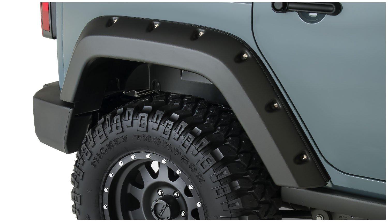 Bushwacker 10080-02 Pocket Style Rear Fender Flare for Jeep Wrangler Pair