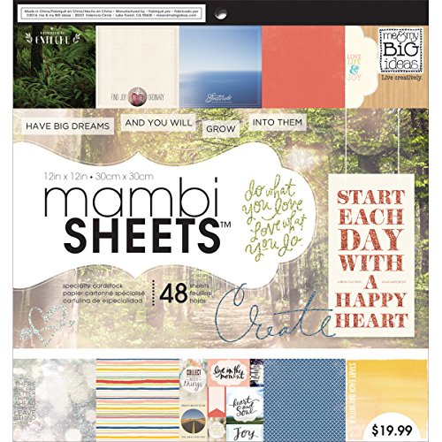 me & my BIG ideas Encouraging Words Mambi Sheets, 12-Inch by 12-Inch (Me And My Big Ideas Specialty Cardstock)