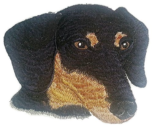 hund Dog Face Embroidery IronOn/Sew patch [6
