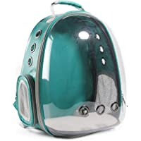 Transparent Pet Carrier Backpack for Cat Kitten Doggie Puppy, Aolvo Waterproof Carrier Purse, Portable Bubble Carrying Backpack, Travel Knapsack Bag, Baby Carrier for Small Medium Breed Dogs, Green