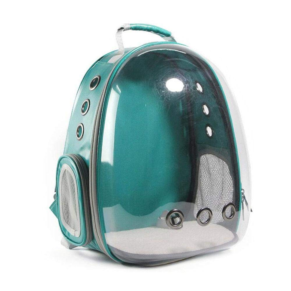 Green Pet Carrier Backpack Airline Approved, AUOKER Portable Pet Carrier Space Capsule Backpack with Transparent Bubble Window for Pets Dogs Cats Rabbits Traveling, Strolling Safe & Breathable (Green)