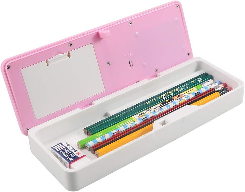HUSAN Estuche de lápices para niños, caja de lápices multifuncional con bloqueo de contraseña Estuche de lápices electrónico inteligente para estudiantes Gran regalo: Amazon.es: Oficina y papelería
