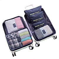 6PCS Packing Cubes High Quality and Durable and Luggage Organisers Value Set Medium Small Suitcase