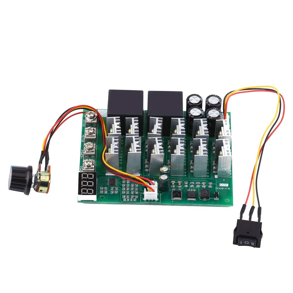 Aeloa DC Motor Speed Controller Governor Reversing Direction Switch with Digital Display 10V-55V 60A