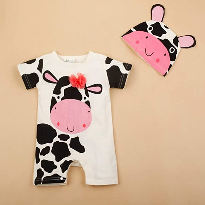 Amazon.com: JEWH Newborn Baby Cotton Rompers Lovely - Rabbit Ears ...