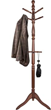 Amazon.com: Vlush Free Standing Coat Rack, Wooden Coat Hat Tree