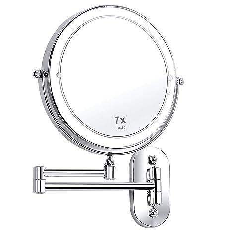 Espejo Bano Aumento Con Luz.Xigg Espejos De Aumento Con Luz Redondo De Pared Espejo De