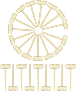 24 Pcs Mini Wooden Hammer - Wooden Mallet for Seafood Parties, Jewelry Making, Leather Crafts and Chocolate Gavel