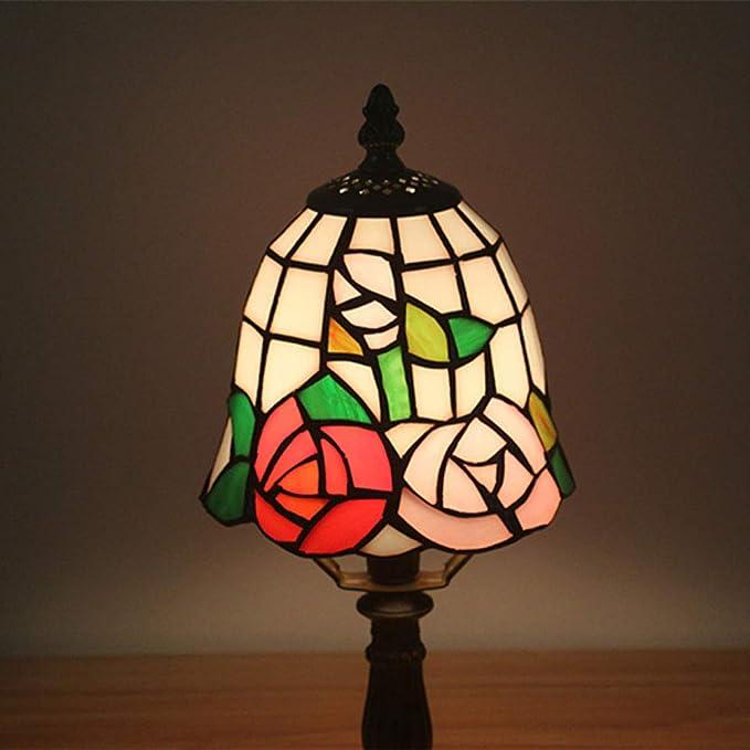 WRMING Lámpara de Escritorio Lámpara de Mesa Estilo Tiffany ...