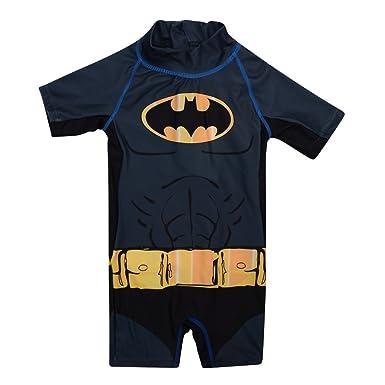 Nueva Niños Niños Oficial de Batman Traje de baño negro y ...