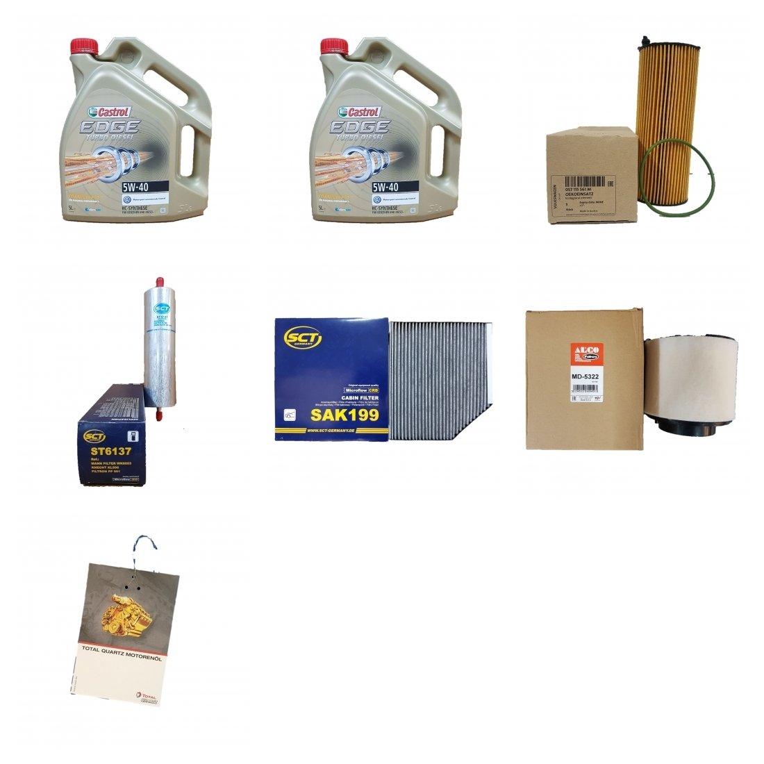Filtro del paquete 10 litros Castrol Titanium FST 5 W50 antifricción y 4 Filtro: Amazon.es: Coche y moto