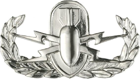 United States Army Explosive Ordinance Disposal EOD Silver Metal Auto Emblem