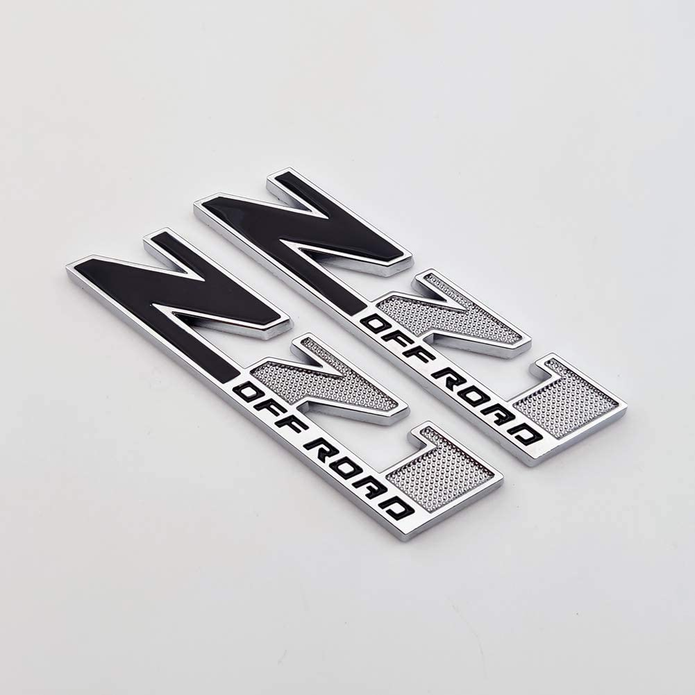 Front,Black AxleZx 3D Chrome Metal High Country Logo Car Emblem 4X4 Off-Road Badge OEM Sticker Decal for Chevrolet Silverado Sierra