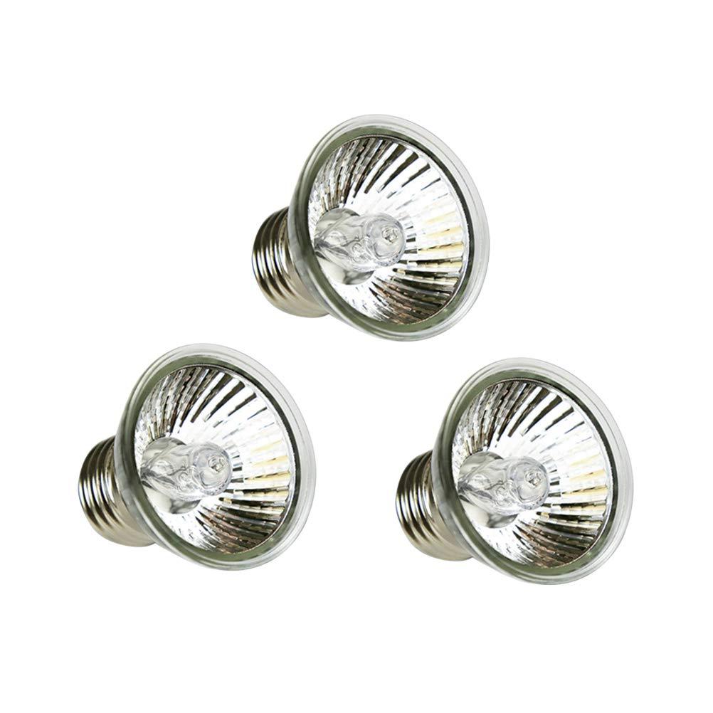 POPETPOP lampade riscaldanti infrarossi per rettili 3 pezzi 75W uvb+uva3.0