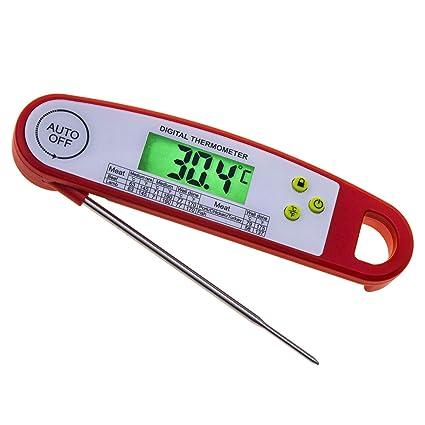 Sagel Termómetro de Alimentos, Digital Instant Read Candy/Carne Termómetro con sonda para Cocina