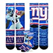 New York Giants Youth Size NFL Rush Crew Kids Socks (4-8 YRS) 1 Pair - Odell Beckham Jr.
