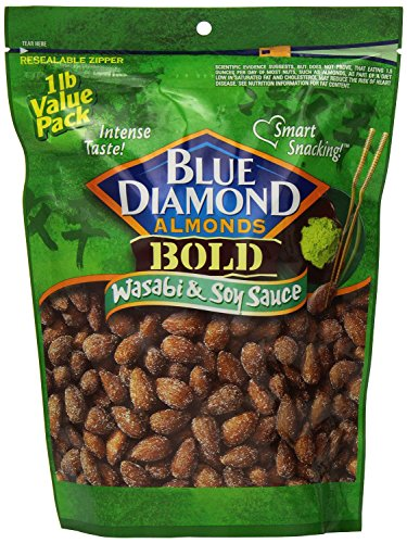 Blue Diamond Almonds Bold Wasabi & Soy Sauce, Value Pack, 14-Ounce (Pack of 3) ()