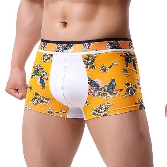 Ropa Interior de Hombres 💋💖 Yesmile Ropa Interior del Remiendo de Los Hombres Calzoncillos del Boxeador de La Impresión Calzoncillos del Bolso de La ...