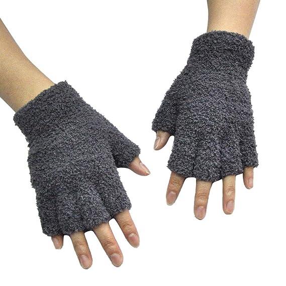 fingerlose Handschuhe Damen Fingerhandschuhe Stickhandschuhe  wollart  NEU