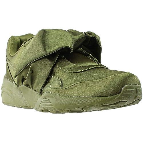 online retailer 296ec 69e49 PUMA Women's Bow Sneaker Fenty by Rihanna Olive Branch/Olive ...