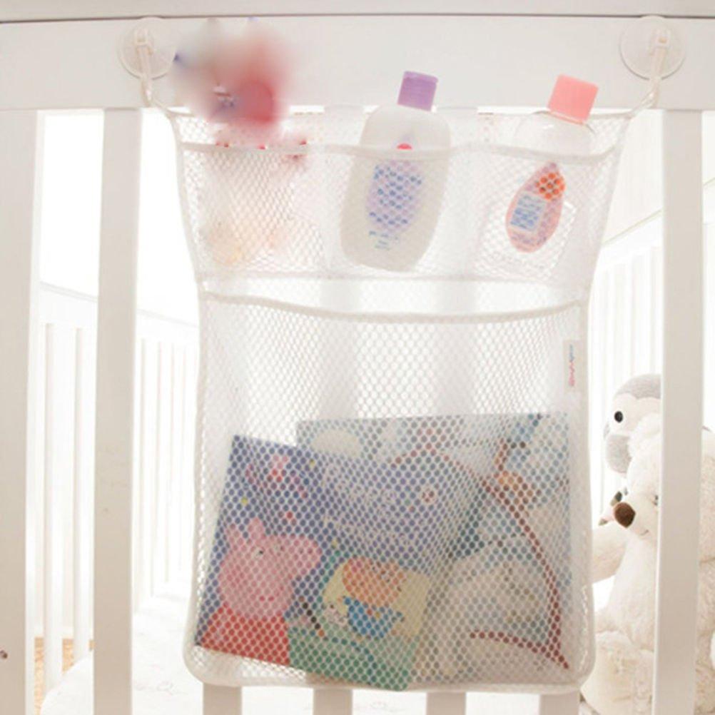 para cuarto de ba/ño y ba/ñera Malla soporte con ventosa bolsa de almacenamiento organizador de juguetes